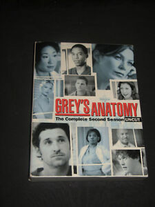 GREY'S ANATOMY The complete 2nd season UNCUT 6 DVD set