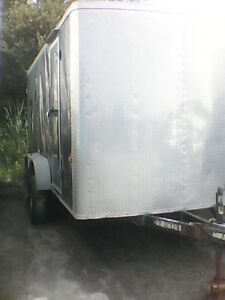 7 foot by 14 foot enclosed cargo trailer