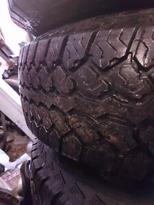 4 A/T tires 80% tread on jeep rims0