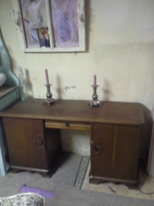 Antique oak desk