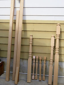 Misc Pieces of Oak Railing & Spindles