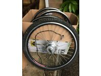 Front electric bike wheel