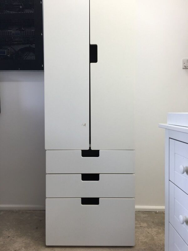 ikea white stuva wardrobe with 3 drawers in kingswood tadworth surrey gumtree. Black Bedroom Furniture Sets. Home Design Ideas