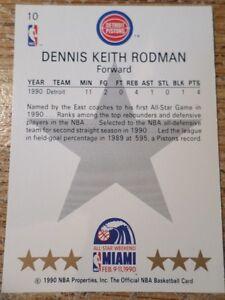 1990 DENNIS RODMAN NBA CARD  (VIEW OTHER ADS) Kitchener / Waterloo Kitchener Area image 2