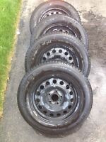 """16"""" SNOW TIRES WITH RIMS"""
