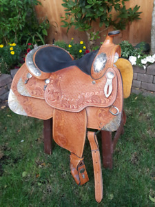 Stunning Dale Chavez Western Pleasure Silver Show Saddle with Ma