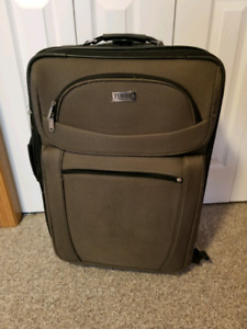 Used luggage. Suitcases for travel. Bags for storage.