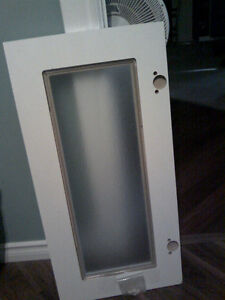 Cabinet door with bubbled glass insert Peterborough Peterborough Area image 2