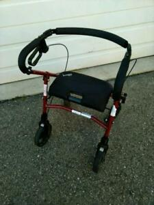 EVOLUTION Folding 4 Wheel Walker in excellent condition