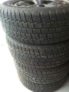 Set of 4 - 215/60R16 Winter Tires and Steel Rims