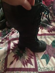 Ladies size 7 knee high boots.