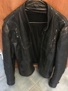 Screaming Eagle Unisex Leather Motorcycle Jacket and accessories