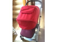 Mamas and Papas Urbo Red Pushchair Stroller Pram with raincover