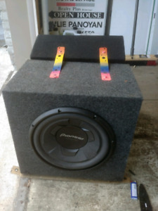 12 inch and a 10 inch subwoofer