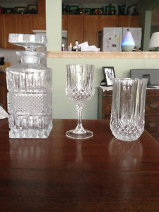 Crystal glasses/decanter