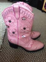 Cowboy boots girls size 1