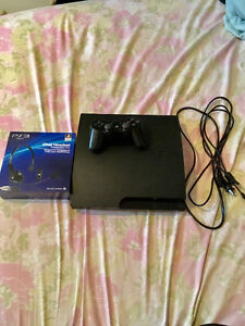 PS3 slim 4 games & chat headset!!! St. John's Newfoundland image 1