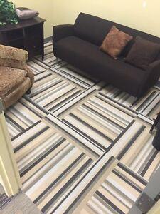 3x3 square modular carpet tile great condition  Kitchener / Waterloo Kitchener Area image 5