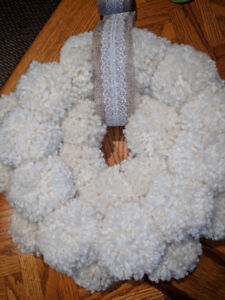 Gorgeous pompom wreaths - beautiful year round decor