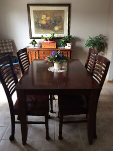 For Sale--dining room table and 8 chairs