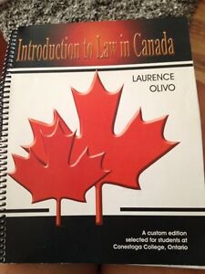 Intro to law textbook Kitchener / Waterloo Kitchener Area image 1