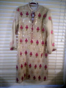 Brand new formal kurta shirt with slip beautiful