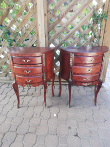 Two bedside tables $50