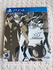 Persona 5 PS4 Steelbook Mint Condition