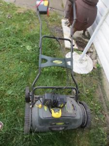 Yard Works  lawn mower battery run
