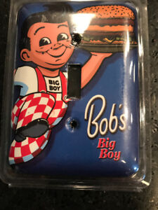 RETRO BIG BOY BURGERS SIGN AND LIGHT SWITCH COVER NEW