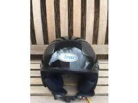 Open face helmet medium