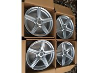 "Brand New Genuine Wolfrace 18"" Vauxhall Vivaro alloy wheels 5x118 load rated Renault Trafic"
