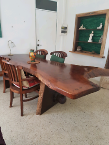Dining table solid wood jarrah UNIQUE