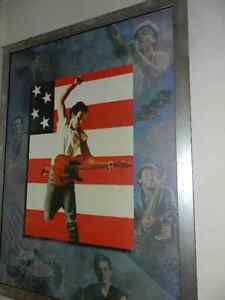 Bruce Springsteen Born in the USA framed canvas poster