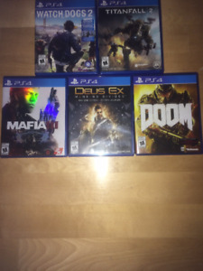 jeux ps4 a vendre ou echanger : ps4 games to sell or exchange