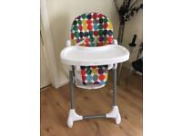 Mamas and papas high chair with removable tray