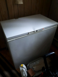 Chest freezer with a small dent