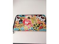 Disney Parks World Disneyland Mickey and Characters Collage Wallet Purse