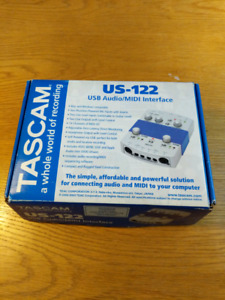 Tascam US-122 USB audio interface - WORKS WITH WINDOWS 7 ONLY
