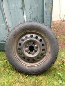 Winter tires on rims – Firestone Winterforce 205/60 R15