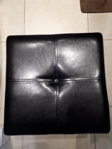 Ottoman Brown Leather with Single seater storage