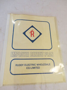 Vintage 1985 Ruddy Electric Health & Insurance Benefits Manual Kitchener / Waterloo Kitchener Area image 1
