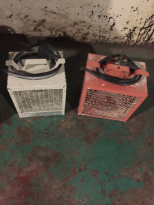 Construction Heaters, 240v, 30amp plug, 4800watt