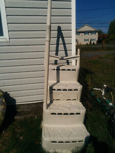 Never been used pool steps with hand railing Cornwall Ontario image 1