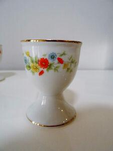 egg cups x6 GERBERA DAISY Crown Lefton 22K trim PORCELAIN Cambridge Kitchener Area image 8