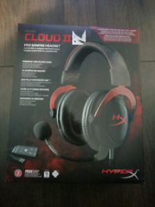 Hyperx Cloud 2 - Headset for PC and Ps4 red