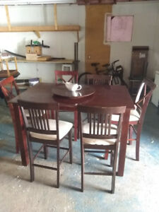 MOVING SALE! Wood Dining Table with chairs FOR SALE