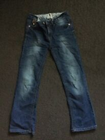 Girls Blue Denim Jeans from River Island age 10yrs