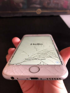 Iphone 6s 16gb cracked glass