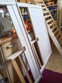 Wooden double bed frame in great condition